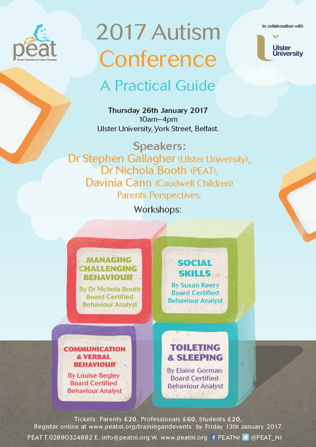 Autism Conference For Parents And >> 2017 Autism Conference A Practical Guide Peat Ni